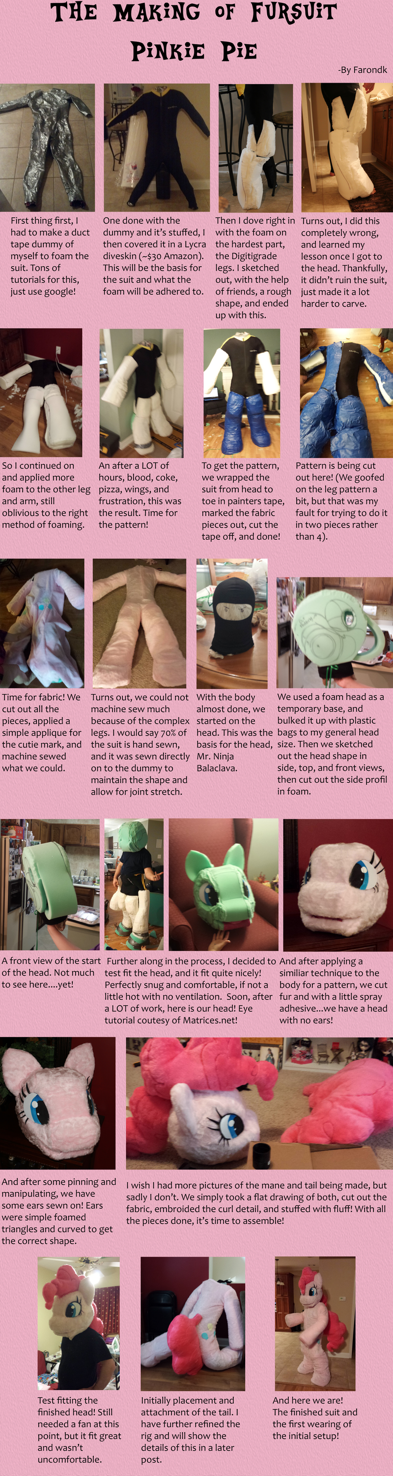 The Making of a Pinkie Pie Fursuit