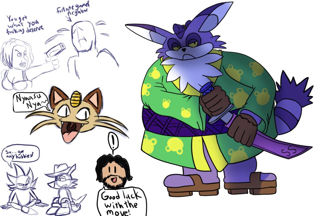 Mugi Draws Samurai Big the Cat