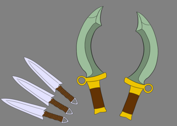 Daggers and Knives (Richter's weapons)