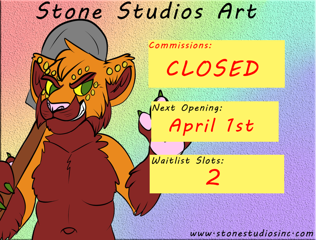 Commissions CLOSED! Waitlist Slots OPEN!