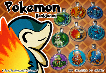 Pokemon Starters Necklaces For Sale 1