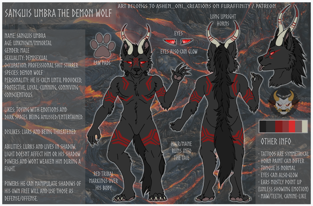 Commission - Sanguis Umbra Reference