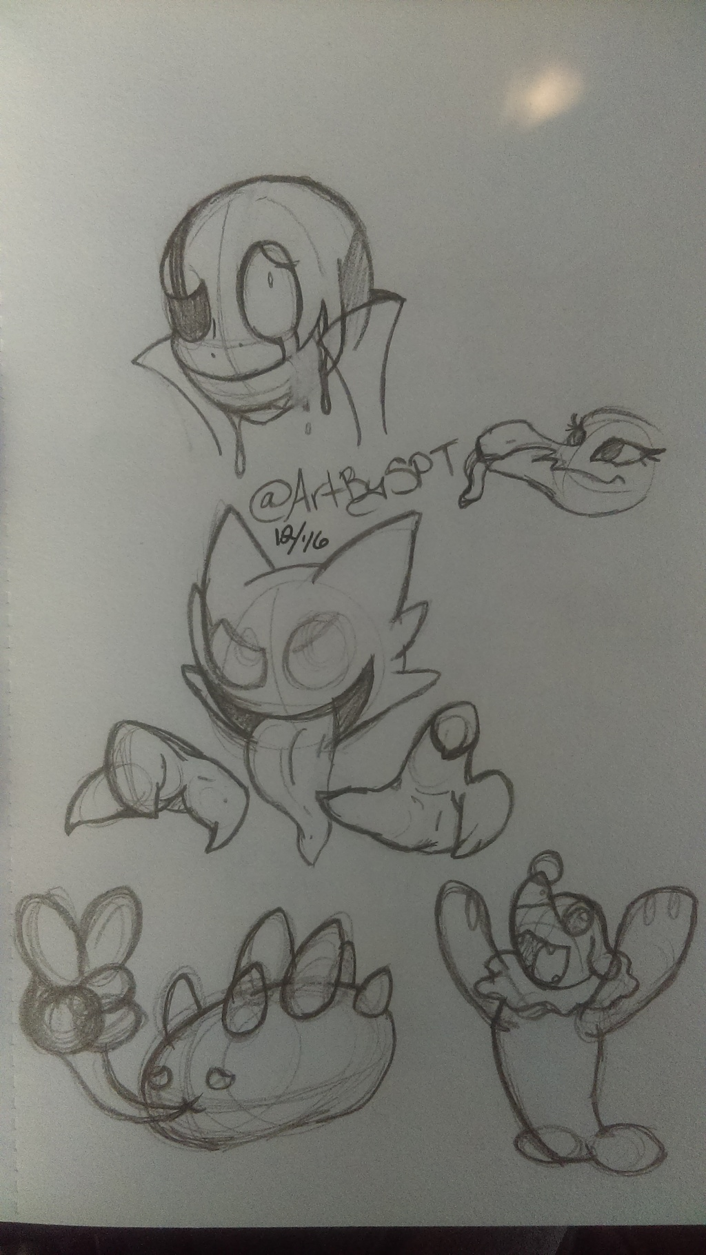 Sketchbook doodles-random assortment
