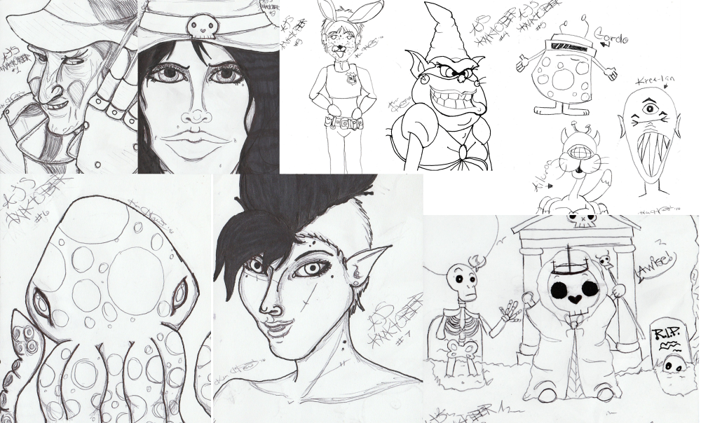 Inktober 2016 Sketches