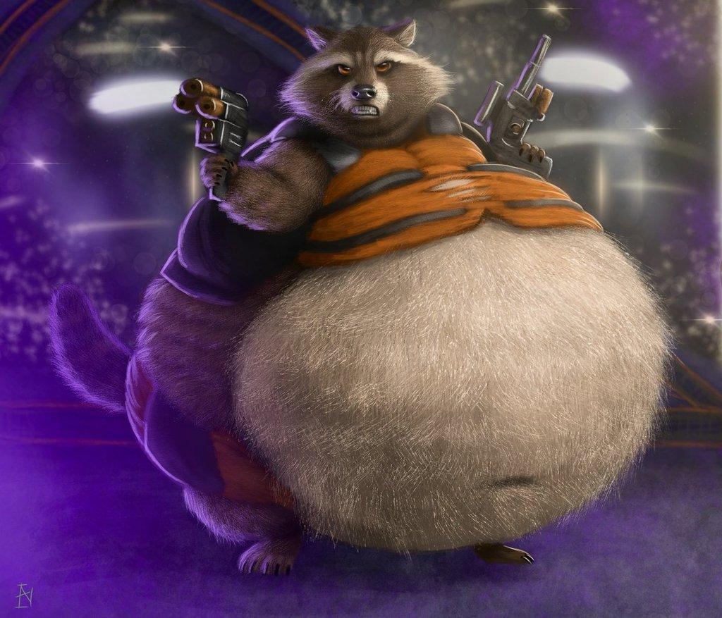 fat rocket raccoon