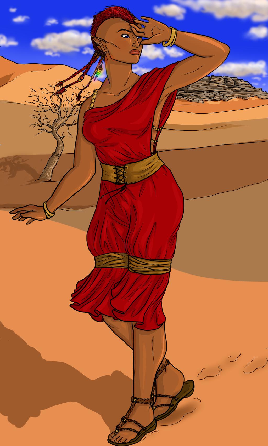 Psionic Desert Elf
