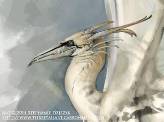 Northern Gannet Dragon - Closeup