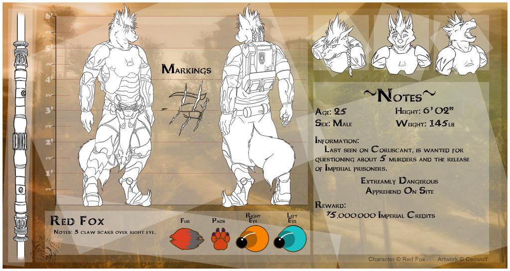 [CM - Red Foxzz] Detailed Character Sheet Clean