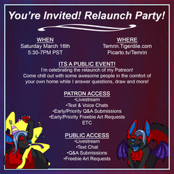 Relaunch Livestream Party!