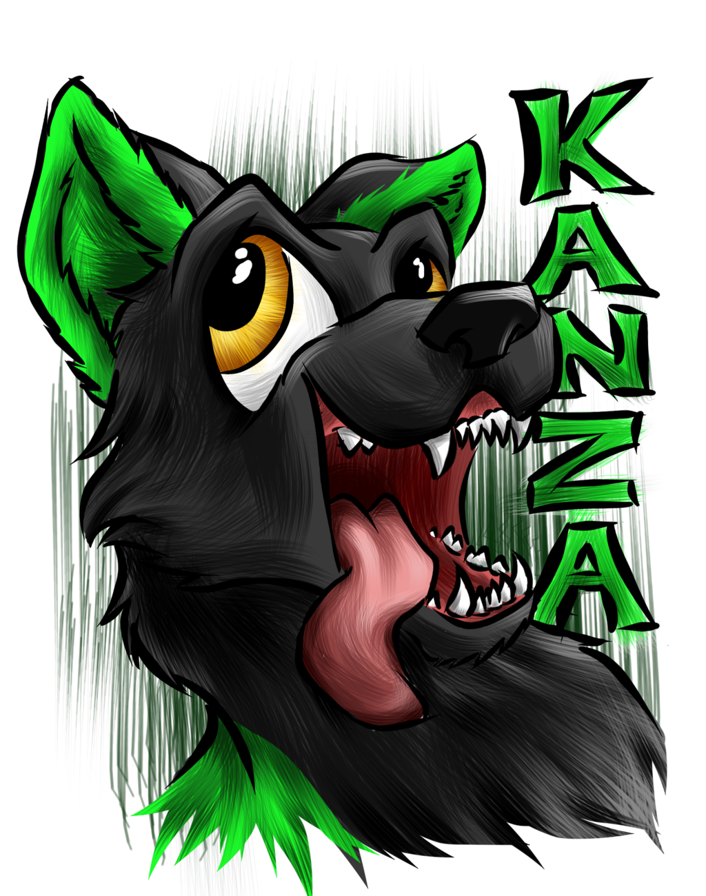 "Commission: Kanza ""Oral Fixation"" Badge"