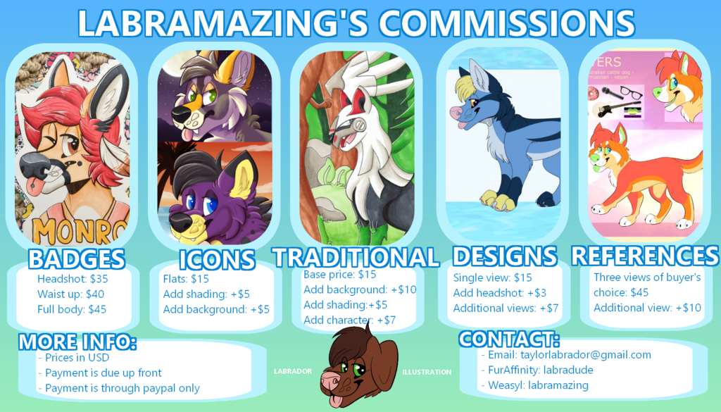Most recent image: commissions 2017