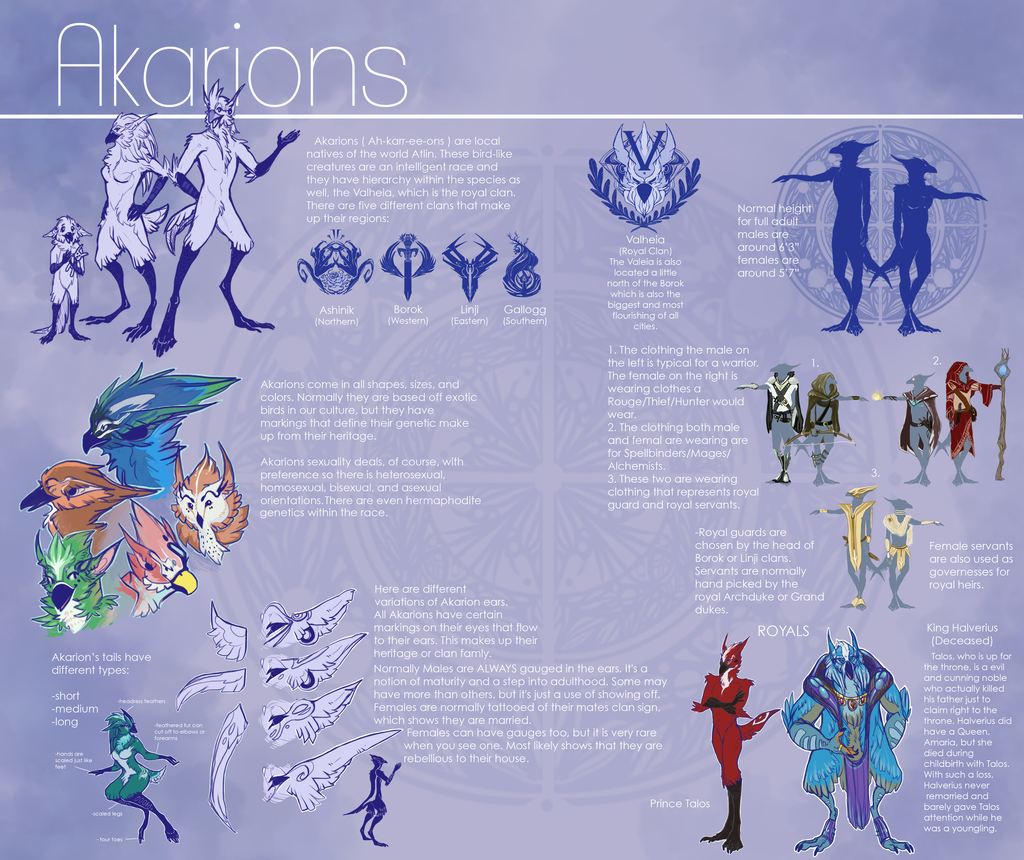 Akarion Reference Sheet