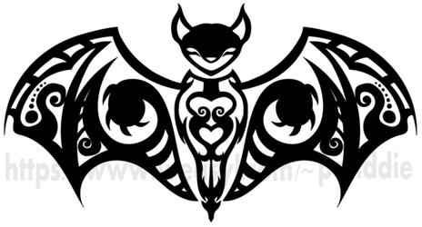 OA- Bat Tribal Tattoo