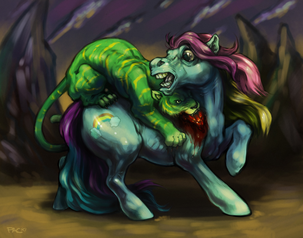 Pony Attacked By A Battlecat
