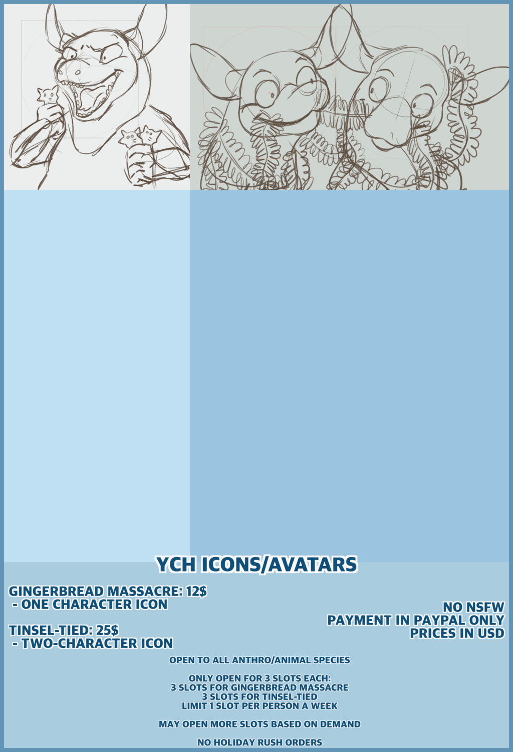 Most recent image: Commission Sheet - YCH Holiday Icons