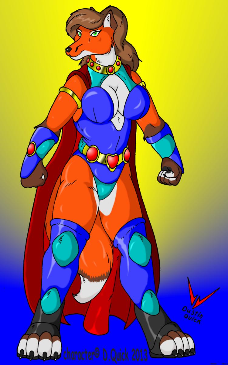 Power Vixen new member of my hero group