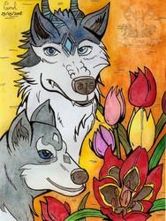 [Spring series #1] Akinokiri, the Evil Entity and tulips