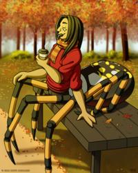 Pumpkin Spice Spider