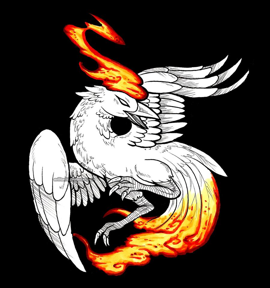 Most recent image: Inktober Day 24: Firebird