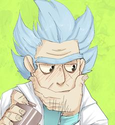 :RnM: Blushy gross old man