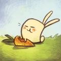 Big carrot, small bunny