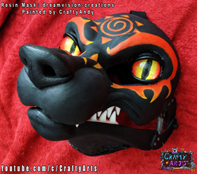 Fox Demon Dream Vision Resin Painted BY CraftyAndy
