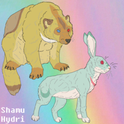 Wolverine and Rabbit OCs