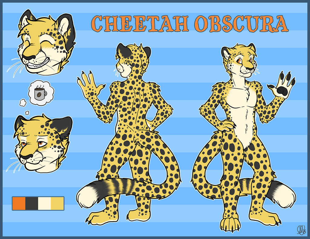Most recent image: Cheetah Obscura Ref Sheet
