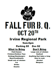 2012 Fall FurBQ - Simple Poster