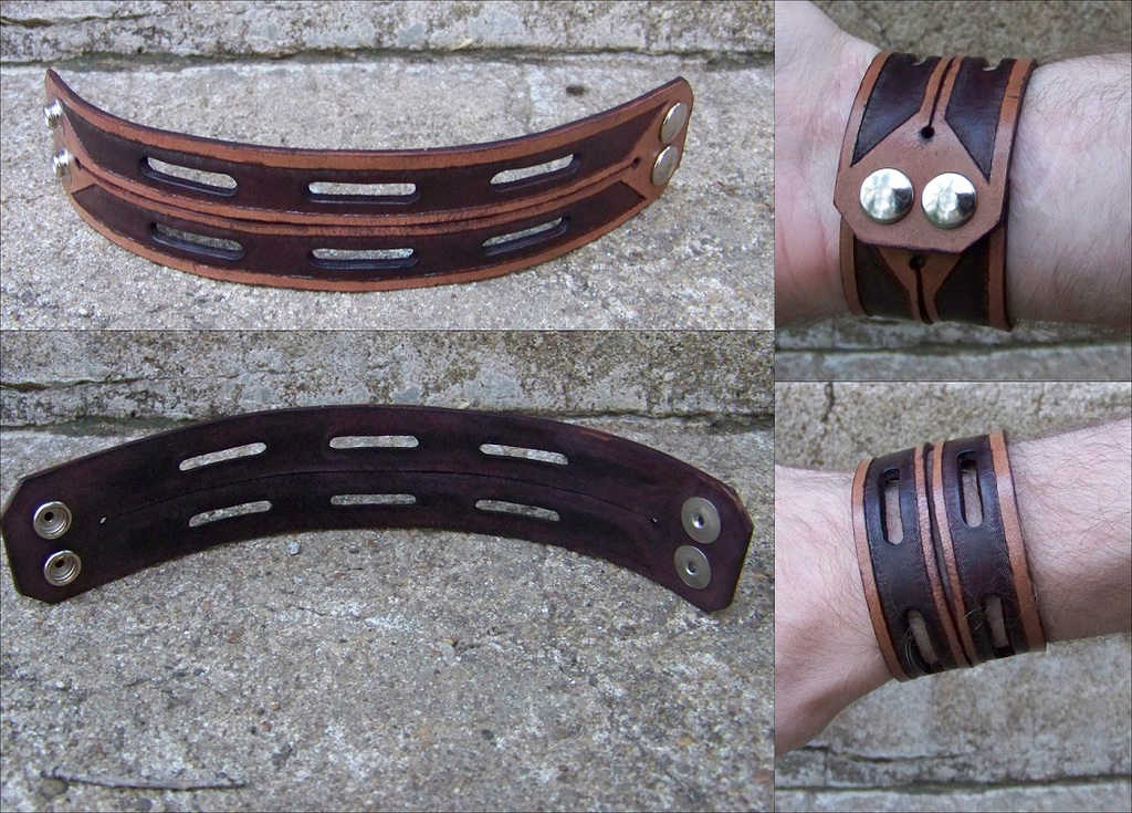 Leather Projects - Double Wristband
