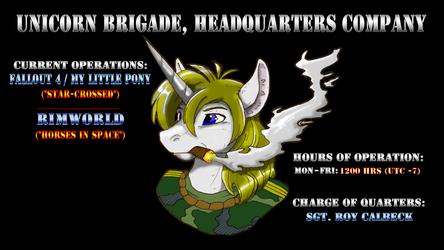 Twitchstream Banner: Unicorn Brigade