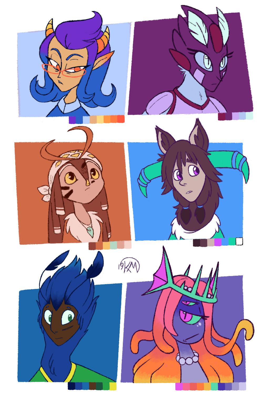 Character Doodles - Original Palettes