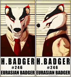 MugShot Badge - H. Badger