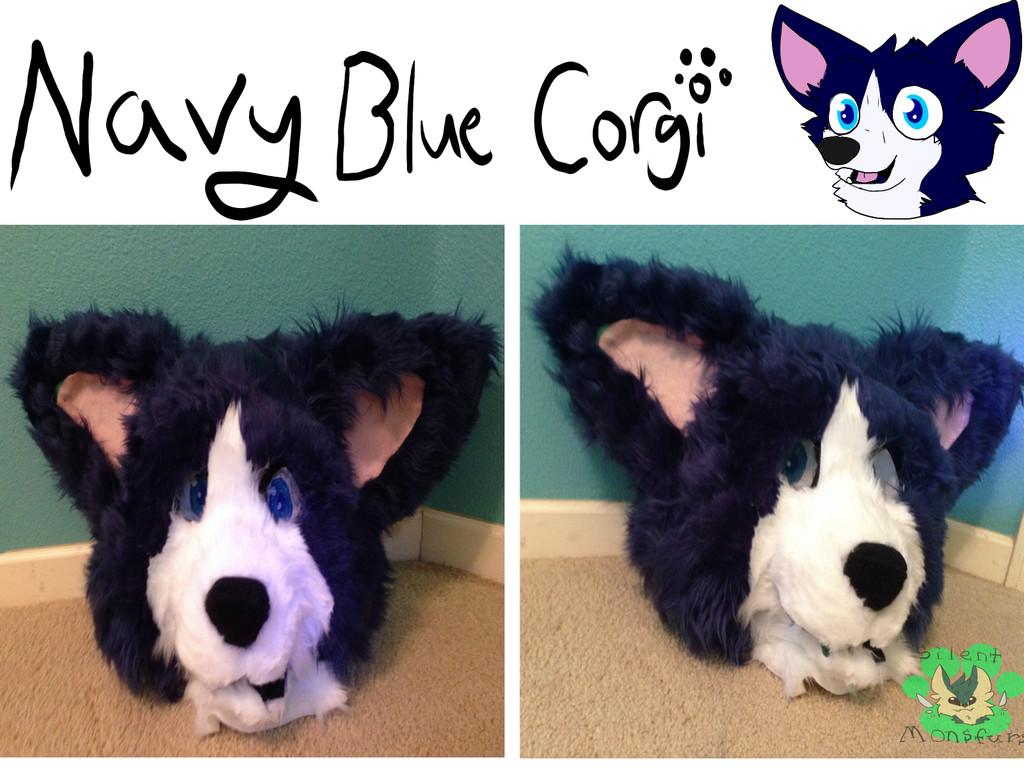 Navy Blue Corgi Auction