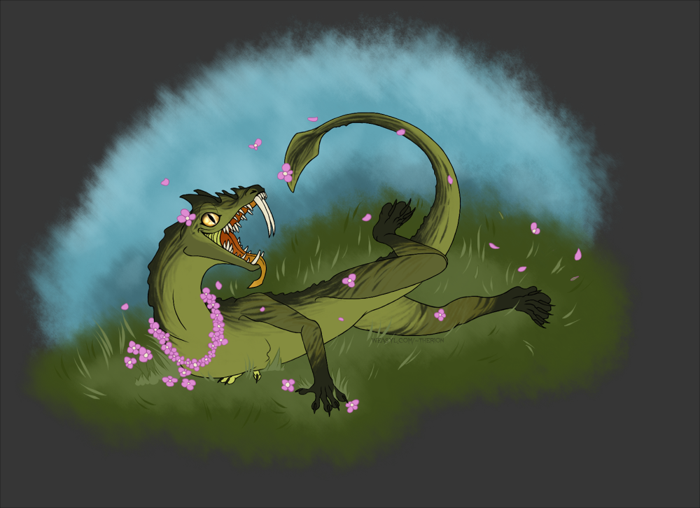 Zui in The Flowers [Art Trade]