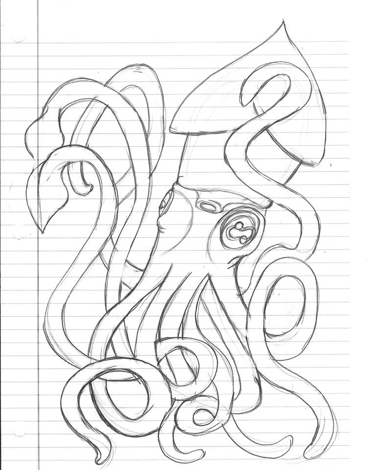 6 Tentacled Creature Sketch