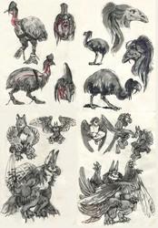 Inktober: Sketch pages