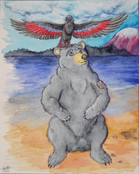 Bear and Raven