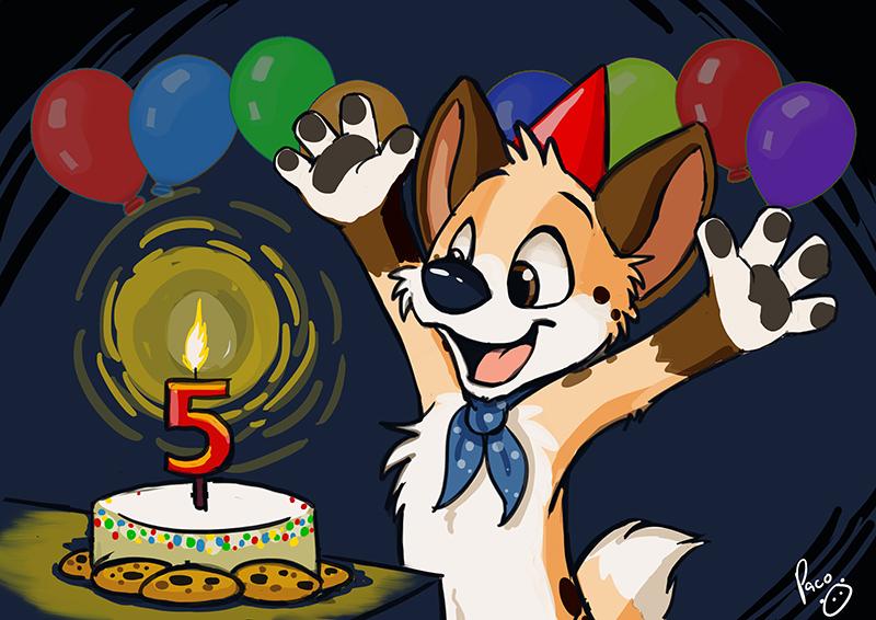Happy 5th birthday, Barley
