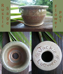 Rustic Sage Flowerpot