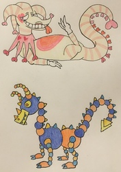 Valentines Jester and Shapes Dragon Adopts (1/2)
