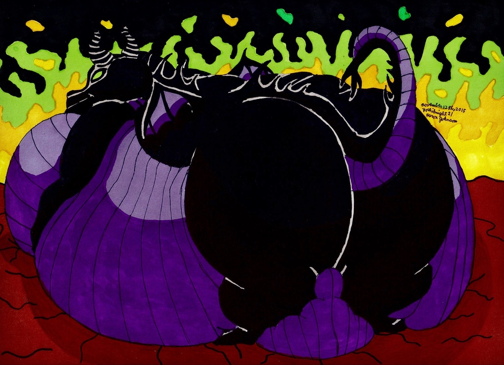 Obese Maleficent (Back View)