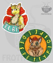 Traditional badges samples