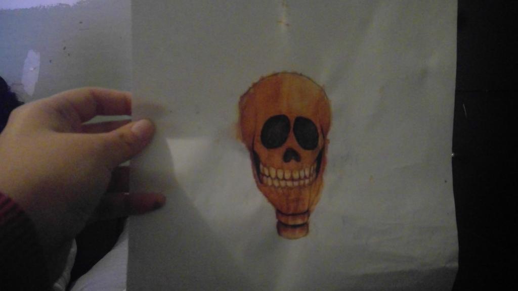 Orange Skull