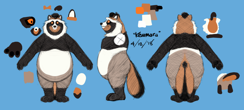 Most recent image: Kewmaru reference sheet (4 December 2018)