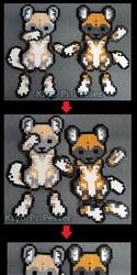 African Wild Dog Couple (Original Design)