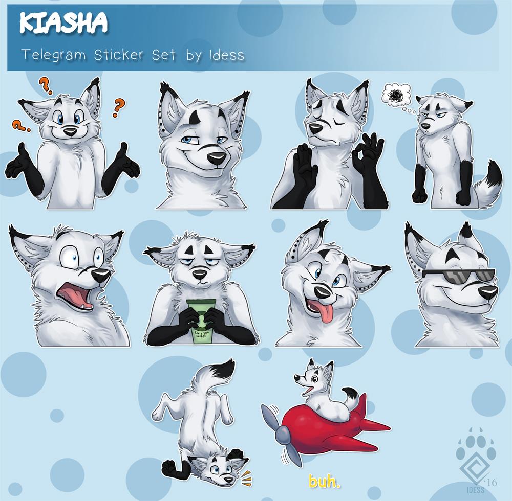 Kiasha Telegram Sticker Set