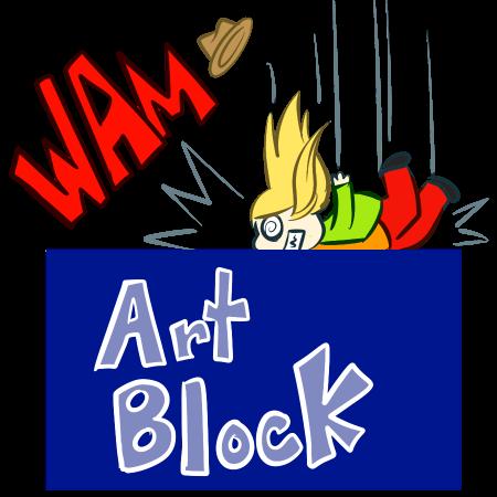 Hitting Art Block