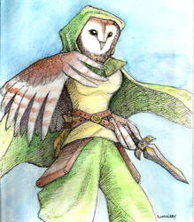 Free Art Friday - Female Owl Rogue