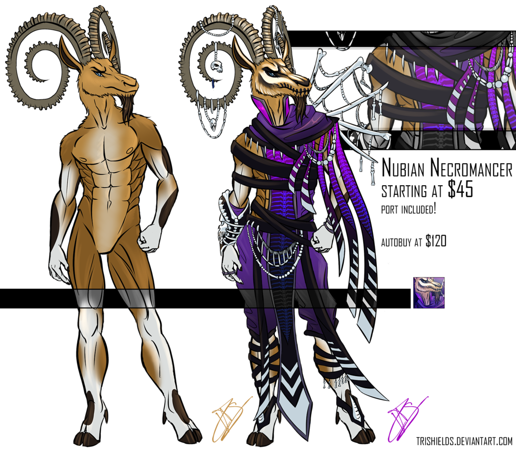 Nubian Necromancer Adoptable - Closed